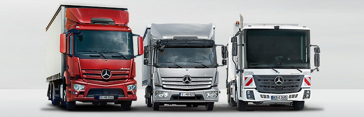 Mercedes-Benz trucks voor distributietransport